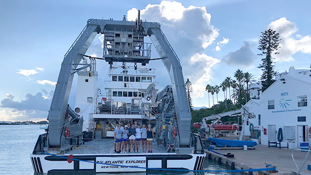 <p> 	2018 REU interns return from a cruise on the research vessel Atlantic Explorer.</p>