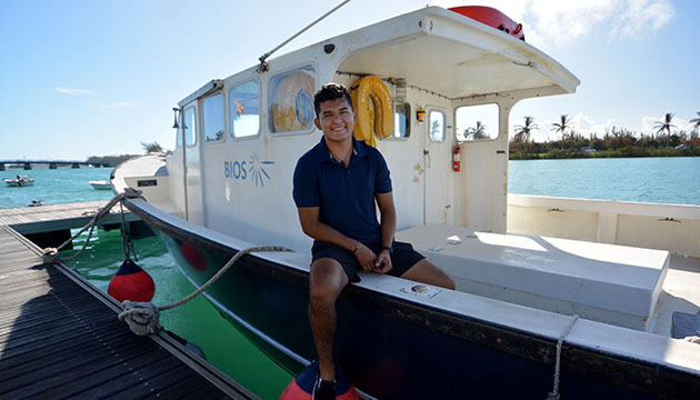 <p> 	Harvey Castillo a student at Northern Arizona University in Flagstaff, Arizona where he is studied wildlife biology. Castillo worked with biological oceanographer Amy Maas researching the physiological responses of microscopic zooplankton to changing ocean temperature.</p>