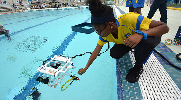 <p> 	Preparing an ROV to conduct a variety of scientific missions.</p>