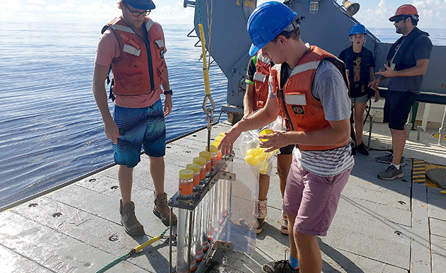 <p> 2019 Cawthorn Cambridge Intern at BIOS, Jamie, took part in a research project that aimed to broaden understanding of the physical and biogeochemical mesoscale variability at the Bermuda Atlantic Time-series Study (BATS) site.</p>
