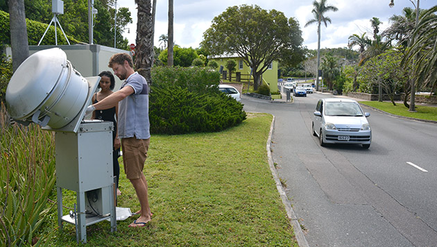 <p> 	Monitoring Bermuda&#39;s air quality at East Broadway in the city of Hamilton.</p>