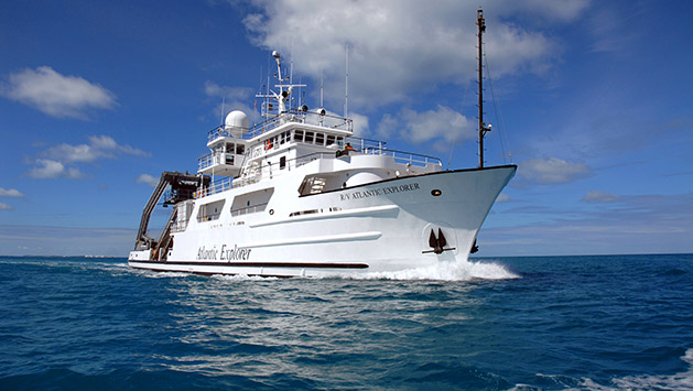 <p> 	The research vessel <em>Atlantic Explorer</em>.</p>