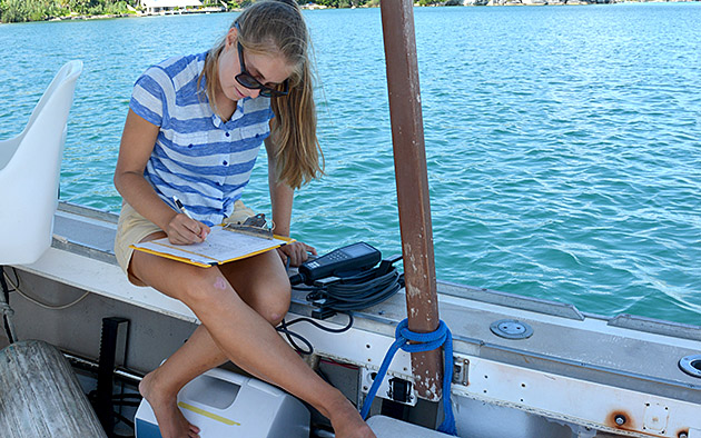 <p> Cawthorn Cambridge Intern at BIOS, Anna, spent the summer investigating how the water chemistry of the North Atlantic Ocean can be utilized to observe the effects of climate change.</p>
