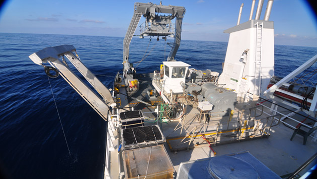 <p> 	Researching ocean currents while aboard the R/V<em> Atlantic Explorer</em>.</p>