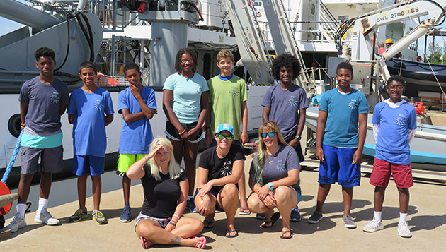 <p> 	Participants in Ocean Science Camp have gone kayaking, learned about fish identification, and made final measurements for their weeklong investigation into the camouflage preferences of decorator crabs.</p>