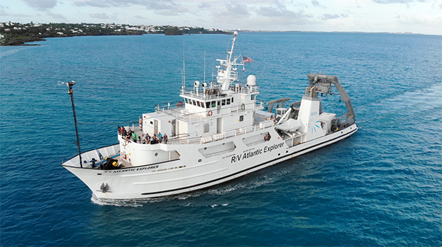 <p> Students have the opportunity to particpate in a research cruise on board the UNOLS research vessel<em>Atlantic Explorer </em>as part of the Modern Observational Oceanography course.</p>