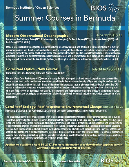 BIOS 2017 summer courses flyer