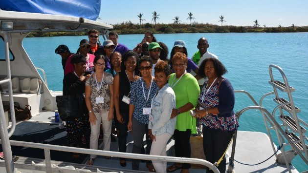 <p> 	Members of the Bermuda Union of Teachers (BUT) during a professional development workshop at BIOS.</p>